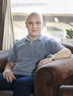 Aleksandar Stojmenovic. är Serbiens första samverkanspolis för hbtq-frågor . Foto: Nada-Pleskonjic-
