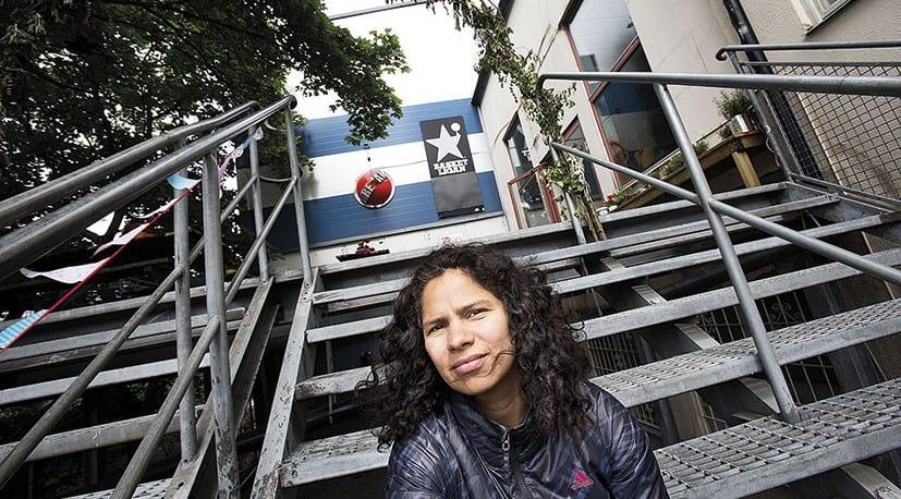 Camila Salazar Atias, Fryshuset, håller i samarbetet med Polisförbundet. Foto: Rickard Kilström