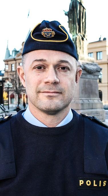 Jonas Gulin, chef för länsgemensamma gränspolisen i Västernorrland och Jämtland. Foto: Fredrik Mårtensson