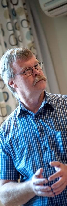 Hans Olsson, ombudsman på Polisförbundet. Foto: Johan Svanestrand