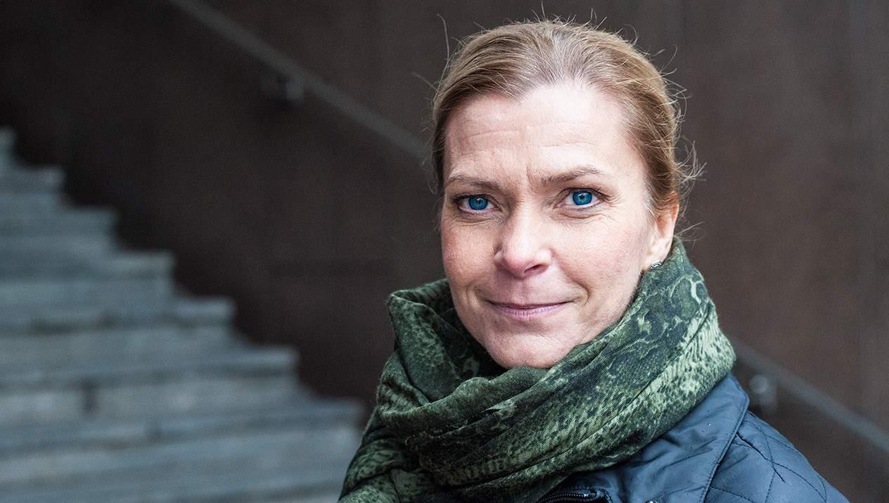 –Det här är en facklig seger, säger Lena Nitz. Foto: Johan Svanestrand