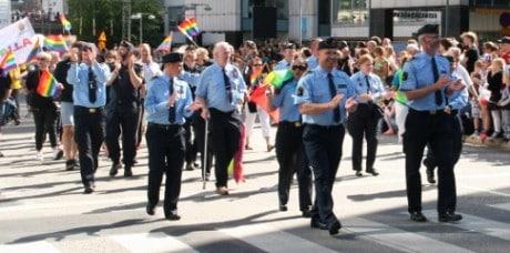 Stockholms regionpolischef Ulf Johansson var en av deltagarna i paraden.