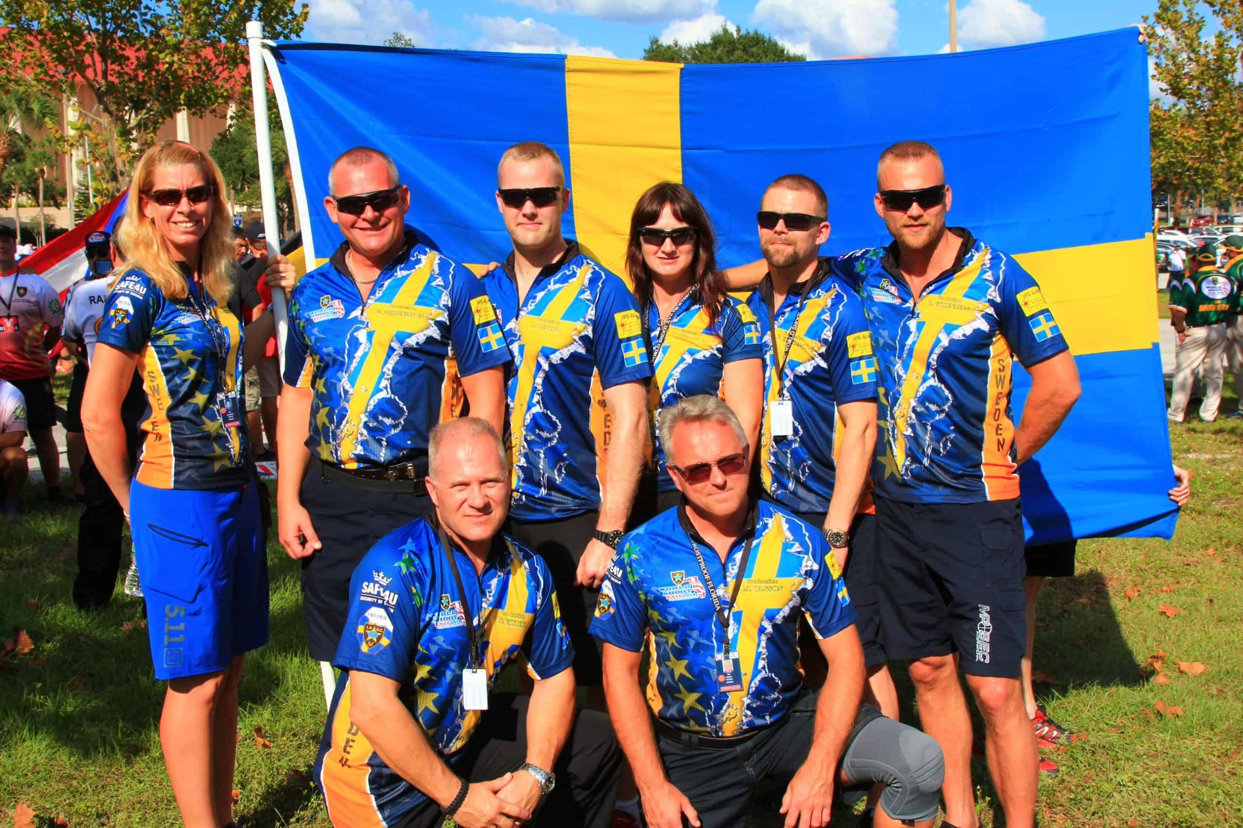 Poliserna i VM-truppen. Foto: Bengt Bäckström