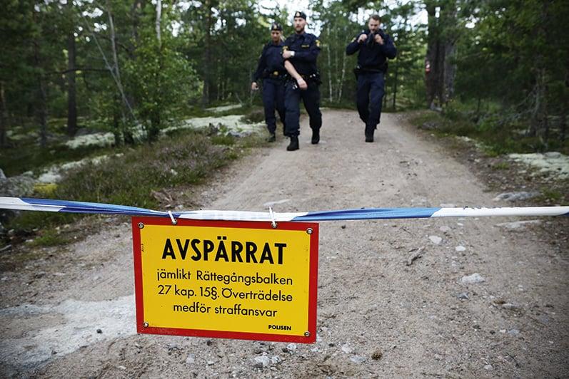 I samband med joggingmordet i Upplands Väsby fanns ingen kriminalsökhund omedelbart tillgänglig i Stockholmsområdet. Istället fick en hund kallas in från Uppsala.  Foto: Christine Olsson /TT