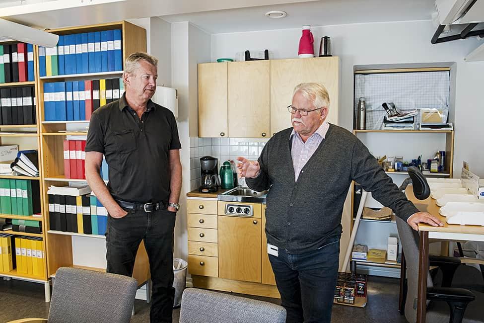 Anders Bergmark och Pär Åke Ekholm utreder det elva år gamla dubbelmordet i Linköping. Foto: Magnus Laupa