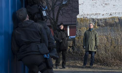 Jeff Oberg och Stefan Hagström från Säpo följer den norska uttagningen av livvakter. Foto: Torkjell Trædal