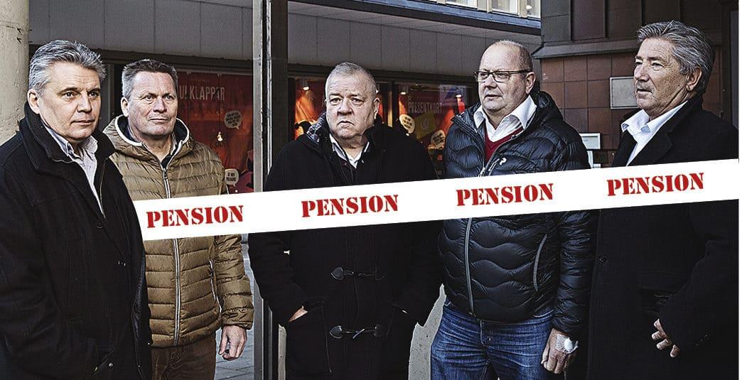 Hans Melander, Thomas Eriksson, Lennart Gustafsson, Allan Embretson och Dag Andersson. Foto: Magnus Laupa Grafik: Ali Moosavian