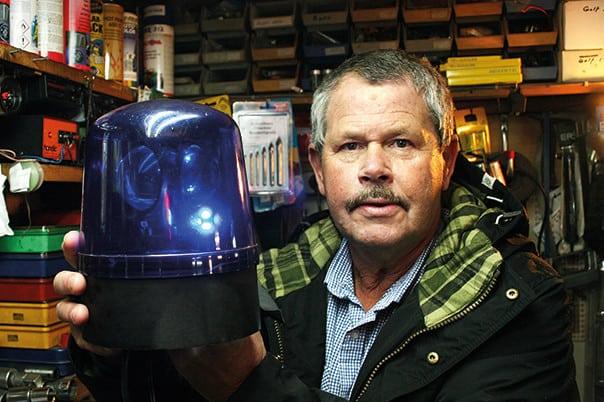 När Göran Duesgård började experimentera med det fasta skenet använde han vanliga glödlampor som han monterade i dåtidens saftblandare. Foto: Emma Eneström