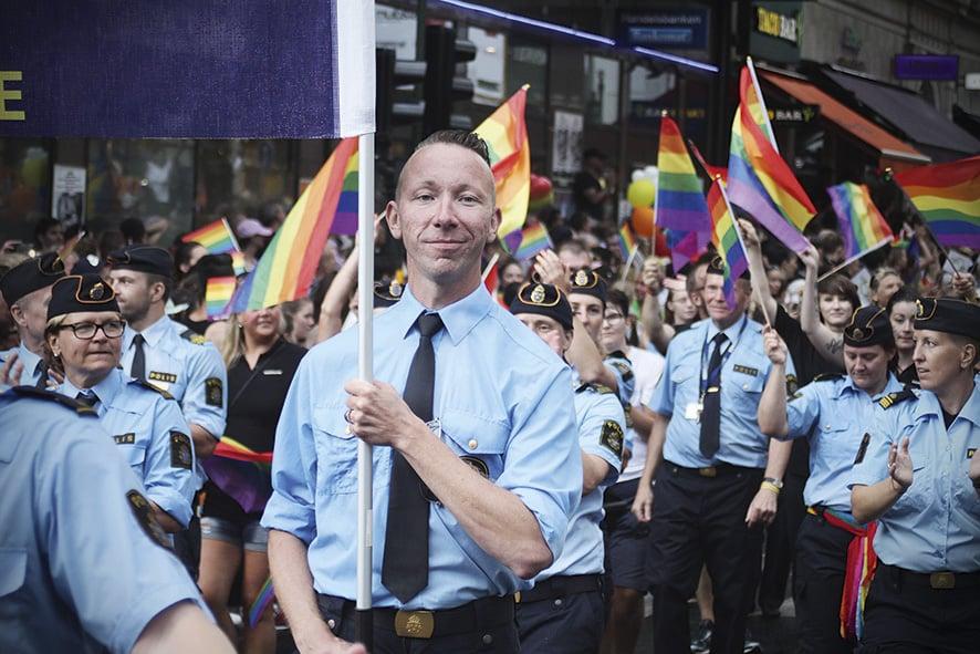 Johan Wiggh, ordförande för Gaypolisföreningen.